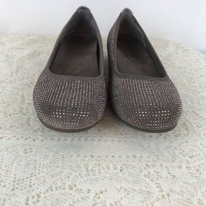 Vionic Willow Sparkle Taupe Orthotic flats size 10